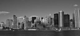 Vista panorámica del sur de Manhattan desde Brooklyn